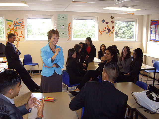Deborah with Sixth Form 2009